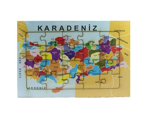 Türkiye Iller Haritası Ahşap Puzzle
