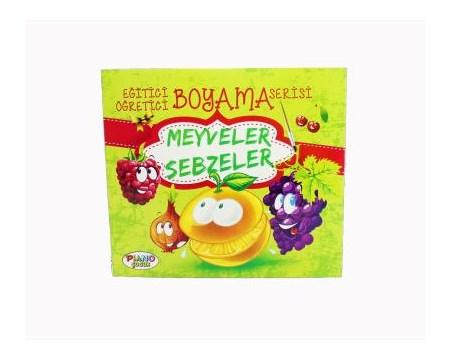 Piano Egitici Boyama Kitabi Meyveler Sebzeler